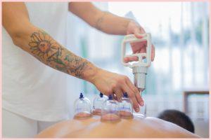 Massagetechnik-Schröpfen